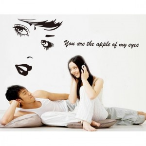 Apple Eyes Wall Sticker