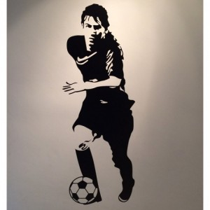 Messy Soccer Wall Decals