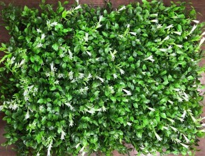 Green Leaves with White Lilly Flowers Tiles for Vertical Garden 60 cm x 40 cm (2.60 Sq.ft) (Pack of 3)