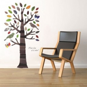 Paper Tree Wall Stickers