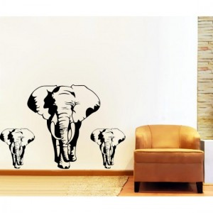 3 Elephant Stickers
