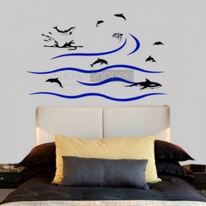 Swimming Penguins Decals