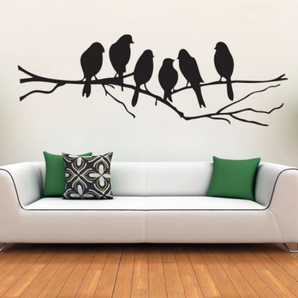 Black Parrots Vinyl Stickers
