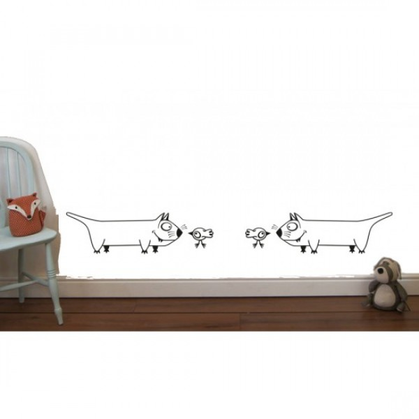 Funny Animals Wall Sticker