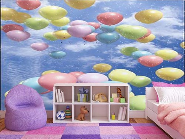 Colorful Balloons Flying