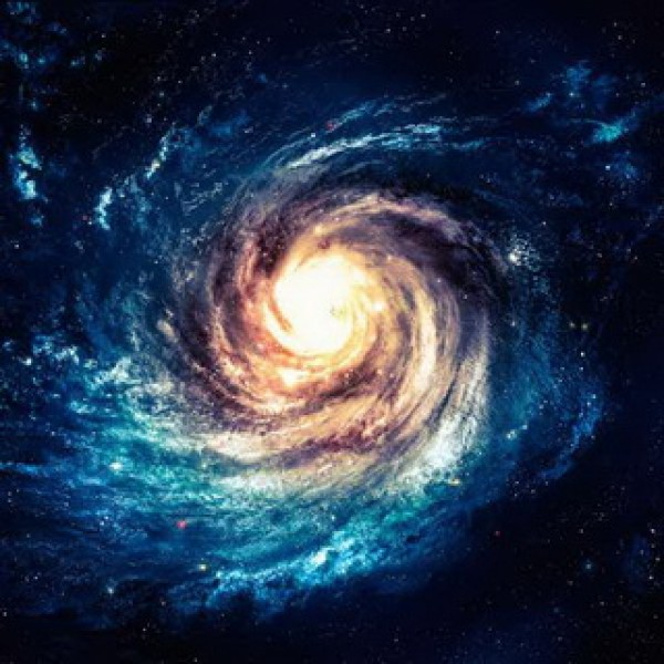 Beautiful Spiral in Deep Space