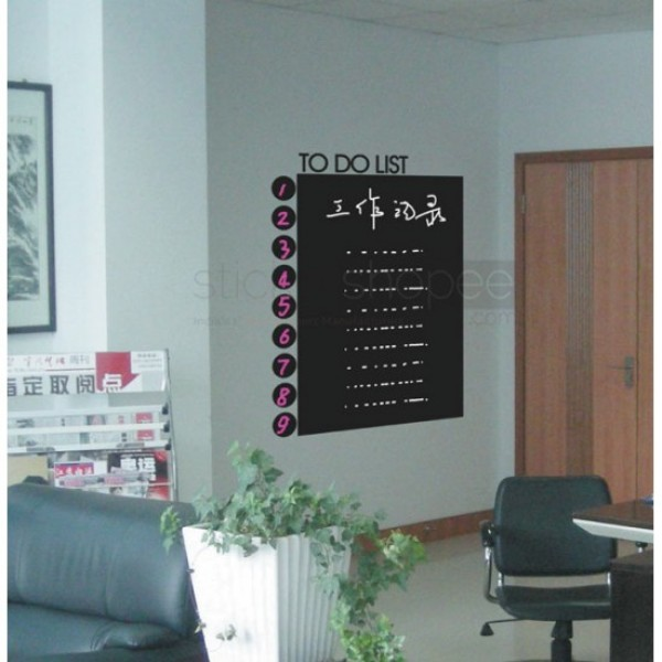 To Do List Chalkboard Decal