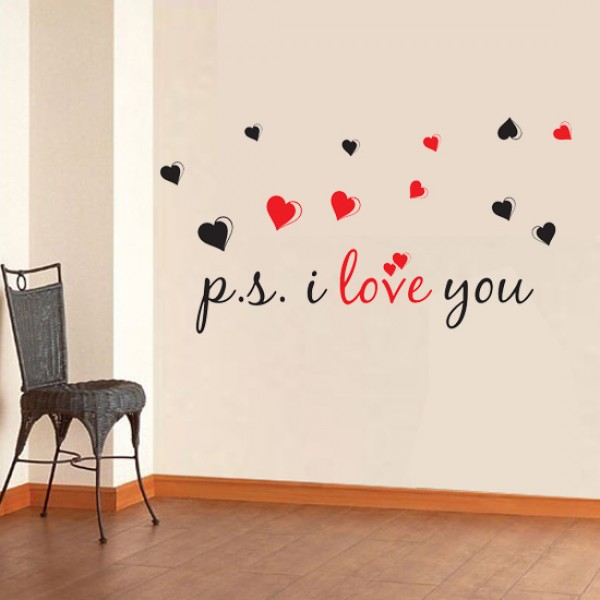 PI Love You Wall Decal