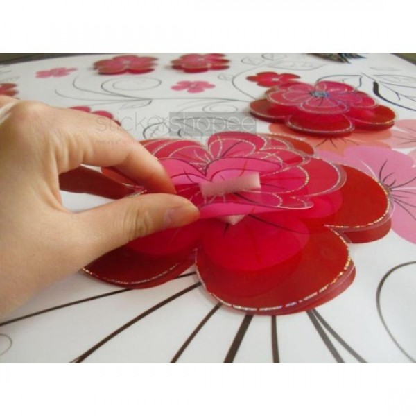 Pink Floral Stickers