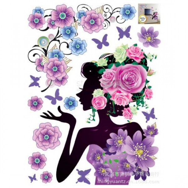 Butterfly Girl Stickers