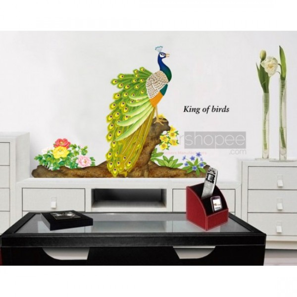 Peacock 3d Wall Stickers