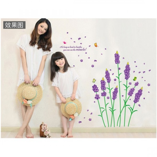 Lavender Flowers Sticker