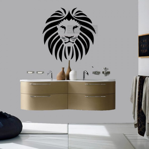 Lion Facet Wall Decals