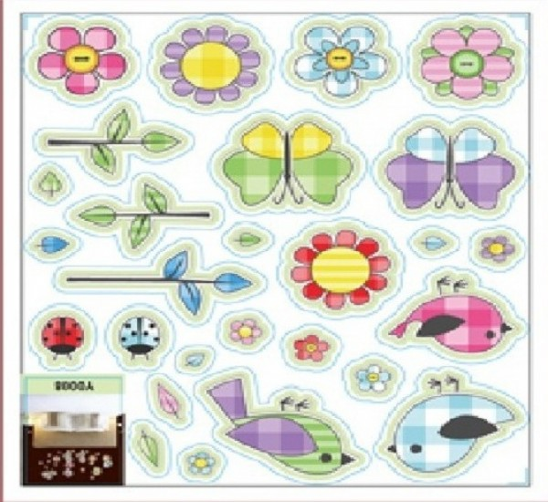 Kids Flowers Decal