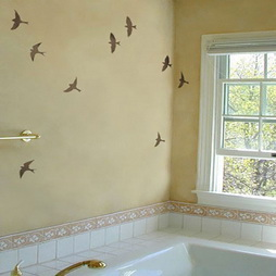 Ceiling Birds Paint Stencils (2)