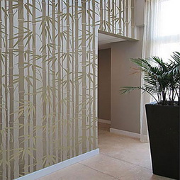 Thick Bamboo Pattern Paint Stencil